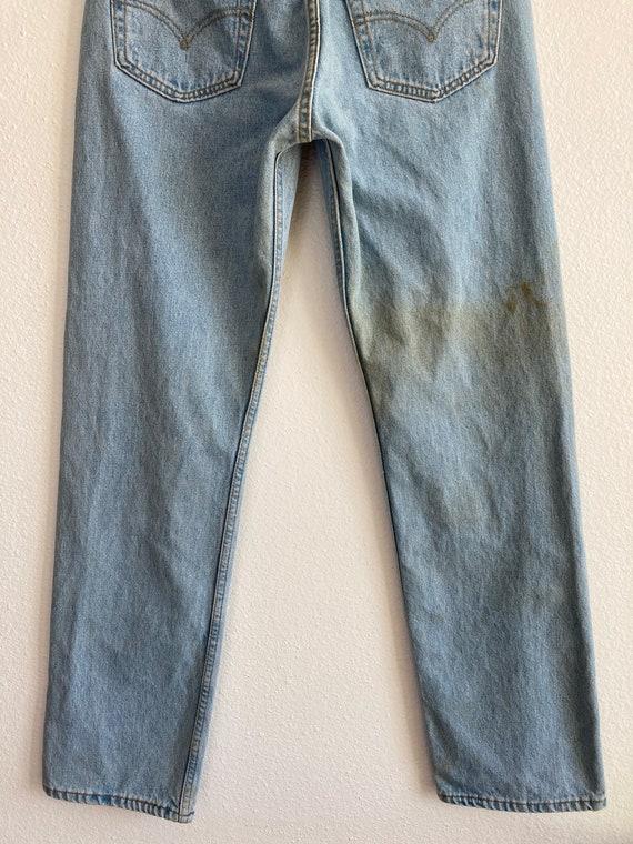 Vintage Levi's 501 Size 32x32 Light Blue 90s Jean… - image 5