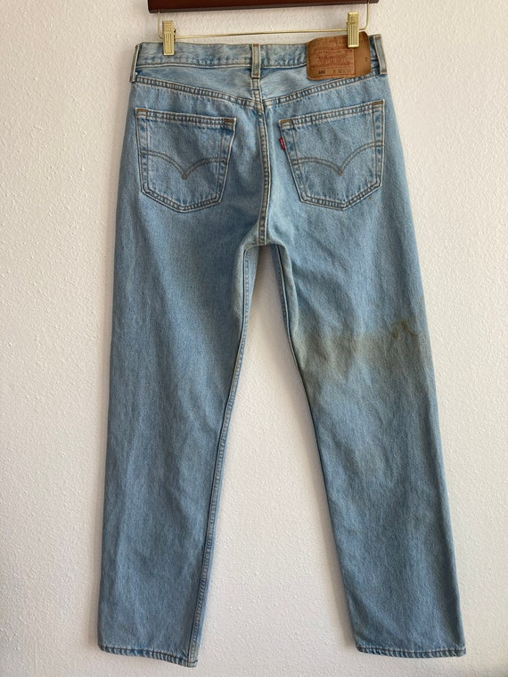 Vintage Levi's 501 Size 32x32 Light Blue 90s Jean… - image 2