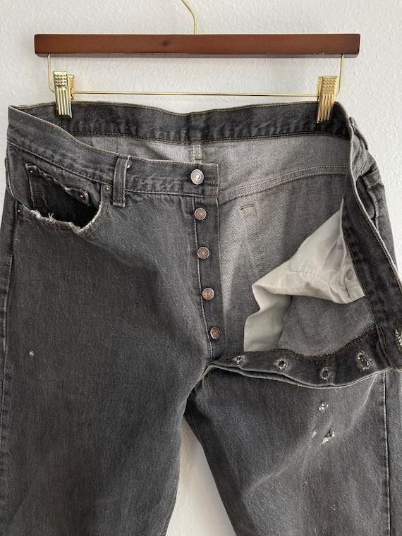 Vintage Levi's 501 Size 34x31 Black 80s 90s Denim… - image 7