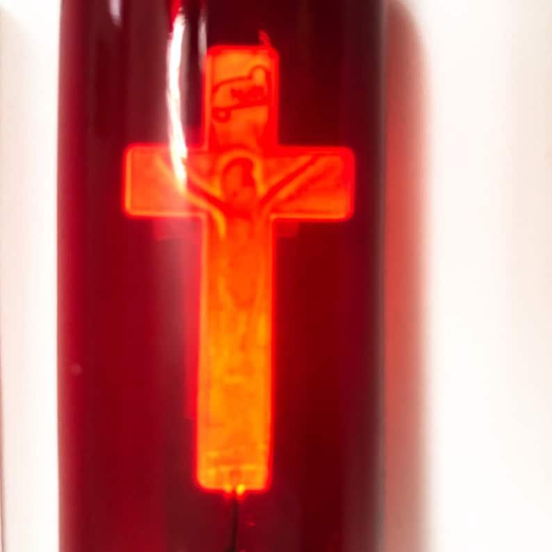 Neon crucifix light bulb Jesus on the cross Artful aerolux copy night nixie lamp