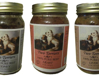 Beef for Dogs (100% Pure Washington Beef: Heart, Liver and Kidney), TWO TERRIERS