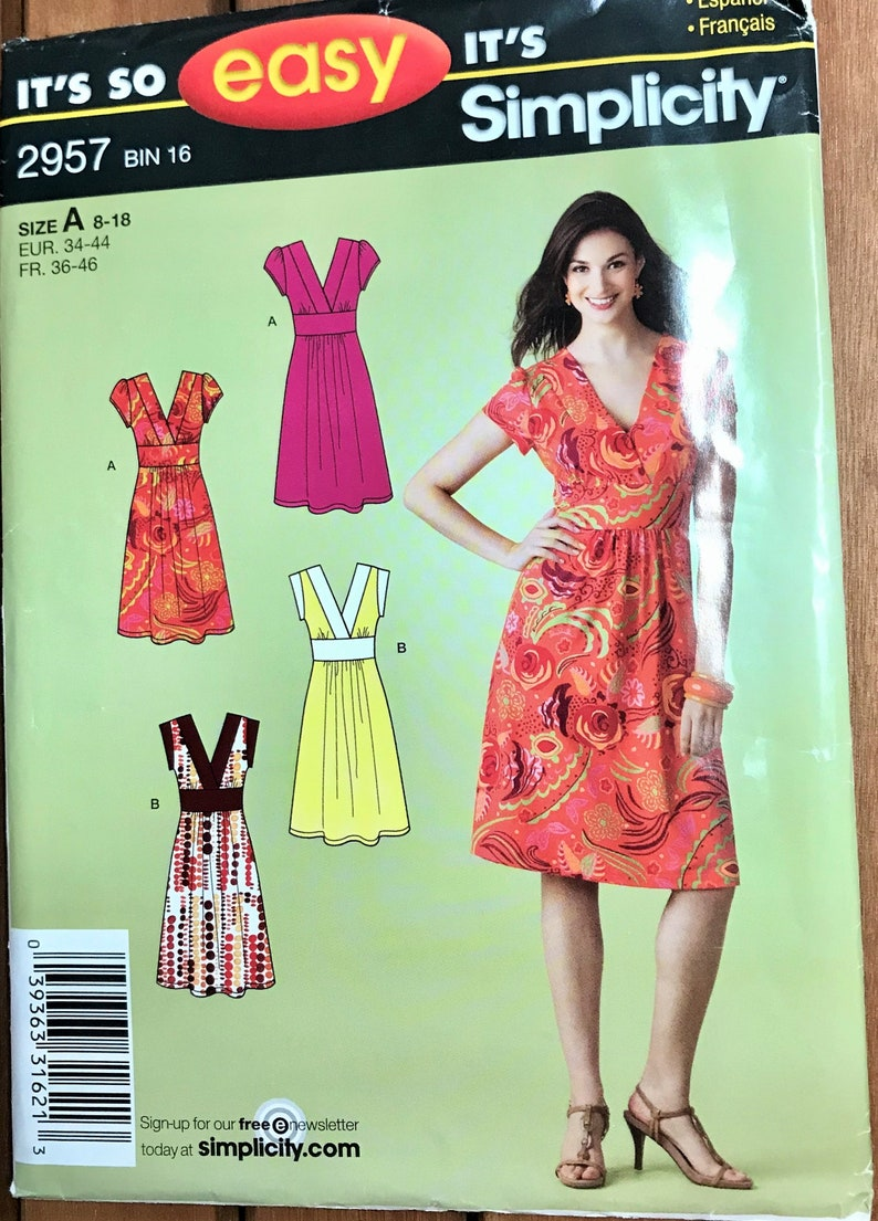 Simplicity 2337 Misses/' Dress with Variations   Sewing Pattern