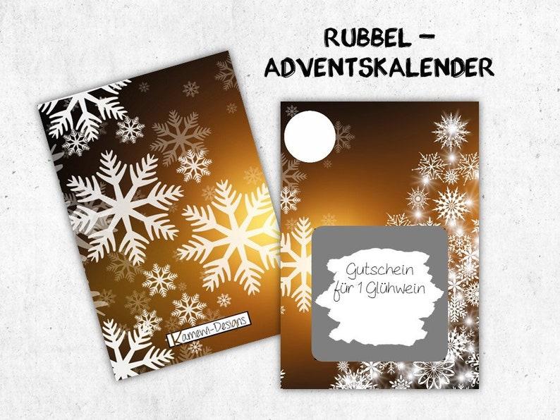 25 Scratch Cards  Advent Calendar  Christmas image 0