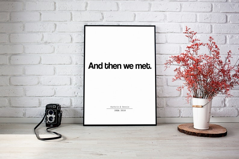 POSTER-And then we met  Wedding  Valentine's Day  image 0