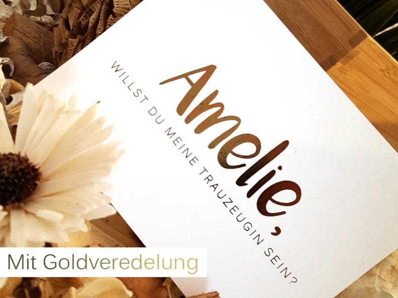 ANTRAG TRAUZEUGIN  Gold refinement  Wedding  Gift  image 0