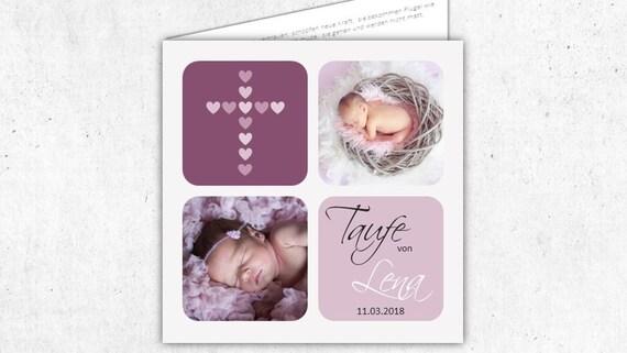Einladung Taufe Taufeinladung Taufkarte Einladungskarte Taufe Geburt Klappkarte Personalisiert Individualisiert Mit Fotos