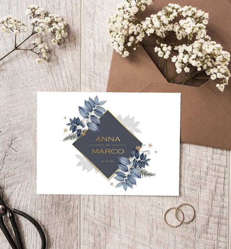 NOTE HOCHZEIT  Wedding invitation  Invitation card  Wedding image 0
