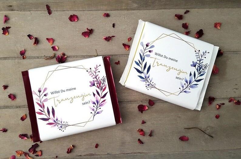 SCHOKOLADENBANDEROLE TRAUZEUGIN  Wedding  Gift  Application image 0
