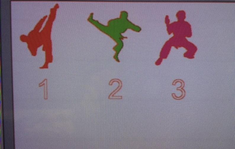4 KarateTaekwondoMartial Arts Personalized Glitter Christmas Ornament