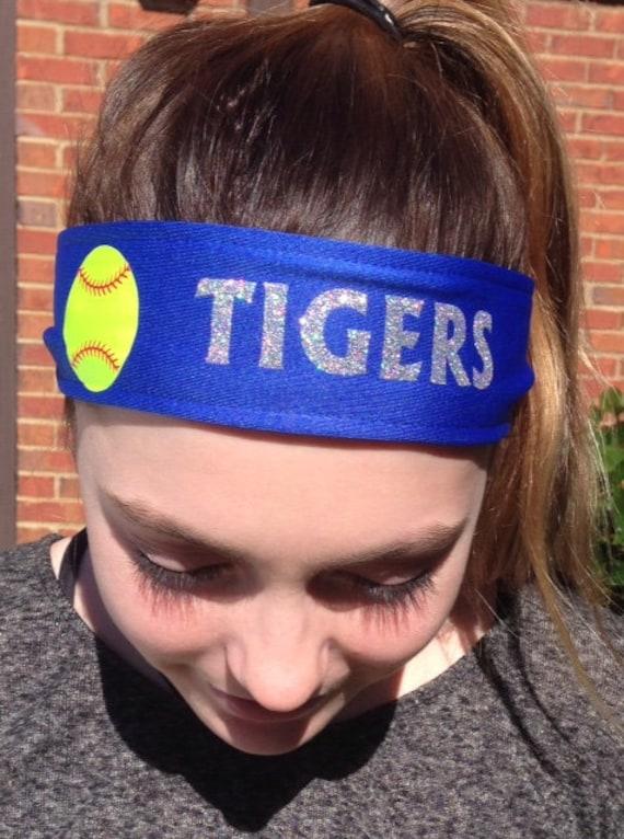 Personalized Softball Tieback Moisture Wicking Sports Headband  d3491fc890c