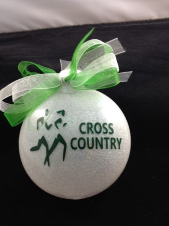 image 0 - Personalized Cross Country Christmas Ornament Etsy