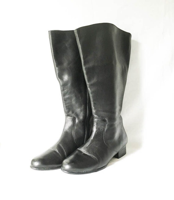 Womens Ros Hommerson Tall Leather Boots 7ww Knee High Etsy