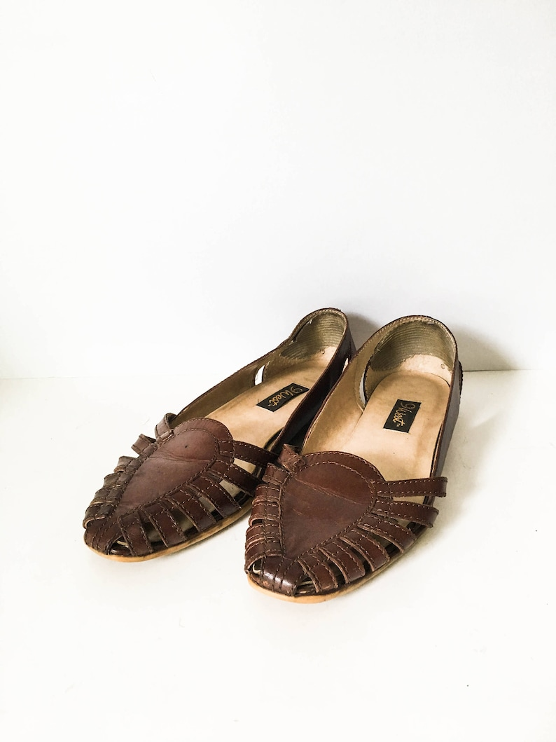 738a55875b843 Women s woven Leather Huaraches sandals sz 6 7 Boho