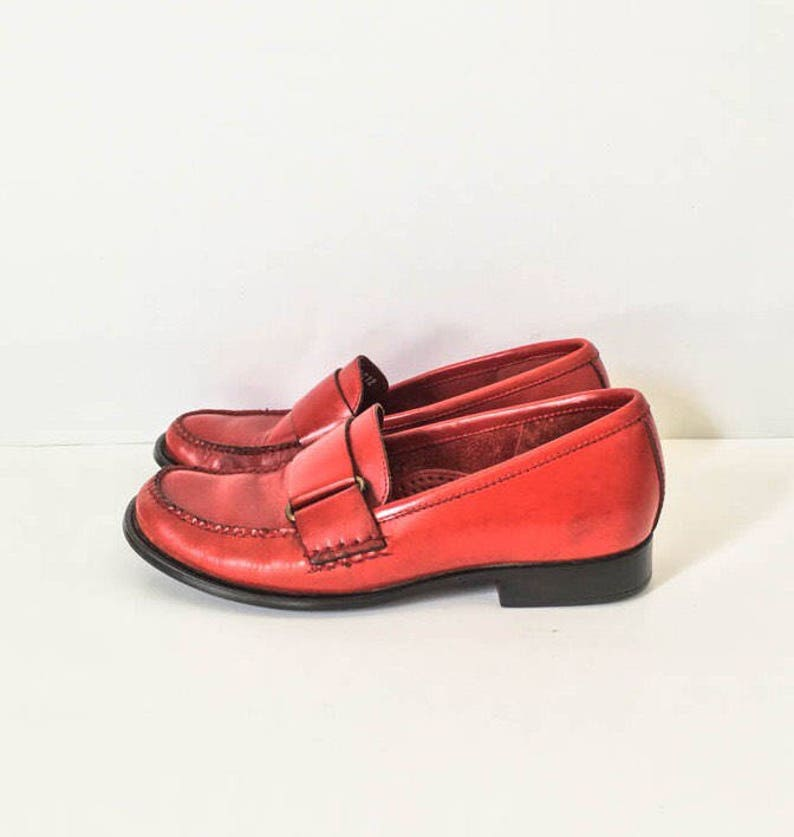 45e120809eb GH Bass Women s Red leather loafers 5.5 M Red leather