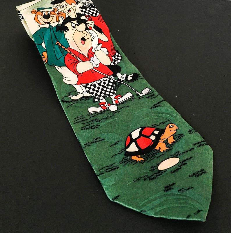 6ca3ab88c0f6 Cartoon Network Novelty Tie Flinstone Yogi Bear G Jetson | Etsy