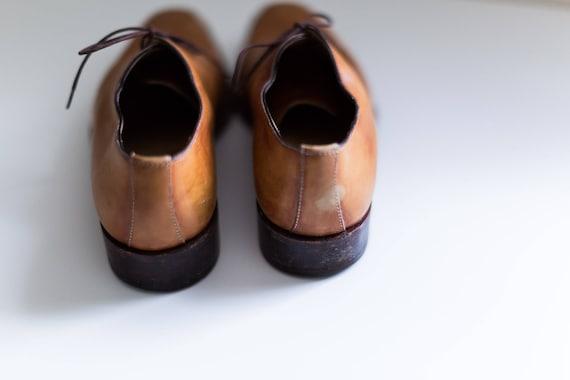 14710251f3c9e ERMENEGILDO ZEGNA Men's brown leather dress oxford dress shoes 7.5 - E  Zegna Classic Men's Oxford shoes