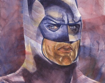 Batman 1989 Michael Keaton Limited Edition art print poster comic drawing by Garduno