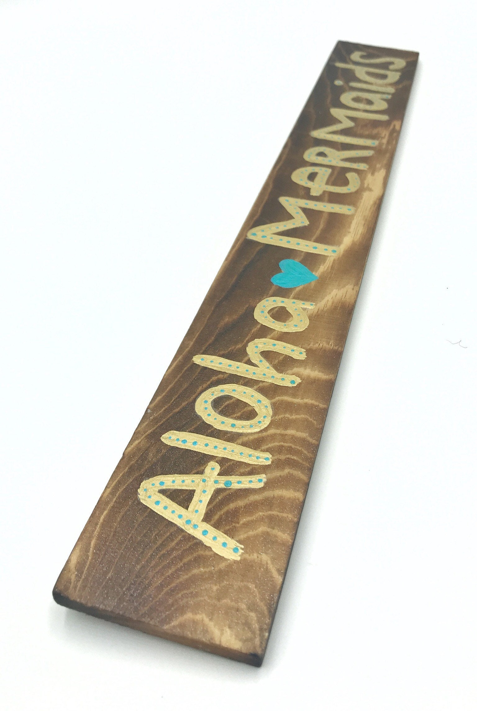 Aloha Mermaids Sign Rustic Wood Plank Sign Boho Mermaid Gift