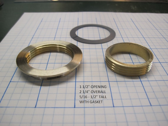 "1 1/2"" Opening Threaded Brass Inserts"