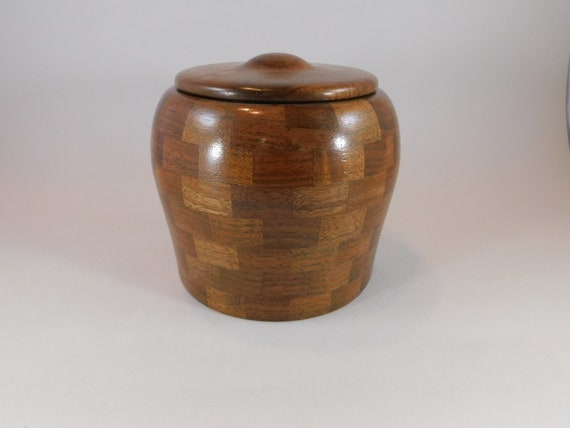 Hand Made Walnut Memorial Pet or Keepsake Urn, Brass Threaded Closure