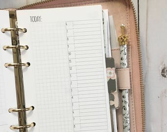 DAILY + Grid Personal Size Planner Inserts [40 DAYS]