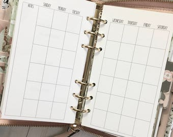 MONTHLY Calendar Year Personal Size Planner Inserts