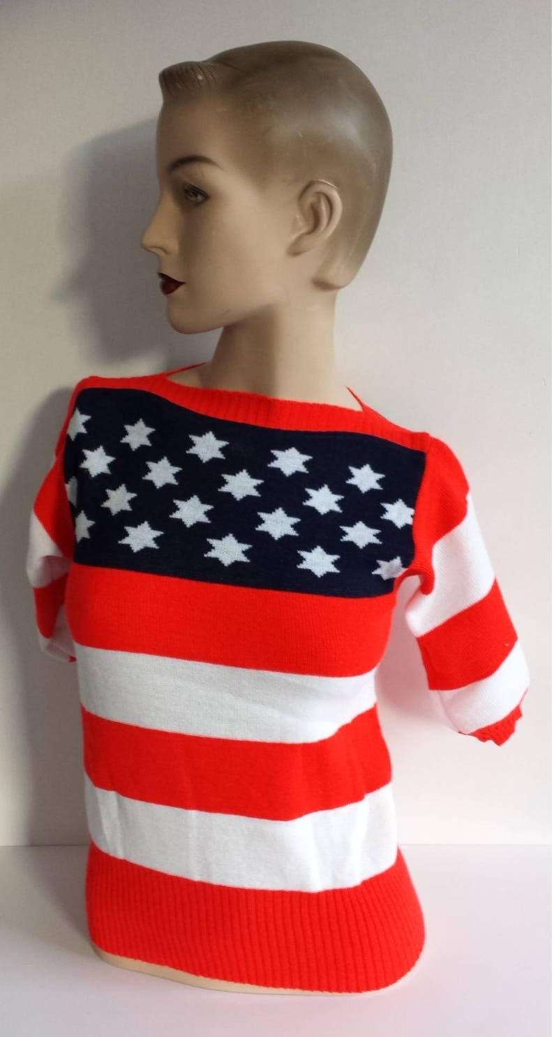 m 70/'s vintage 4the july knitted sweater size small x-small