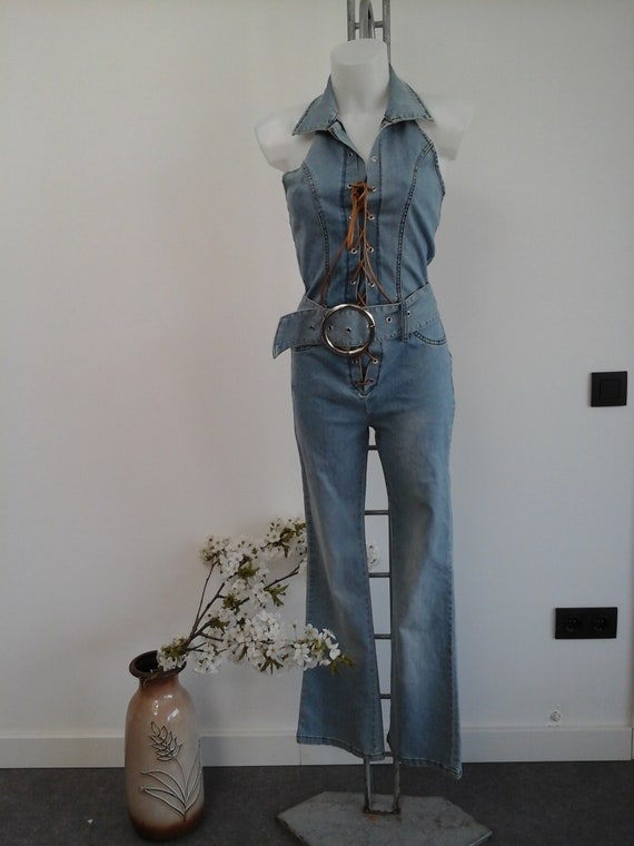 vintage suit onepiece jeans new from deadstock pla