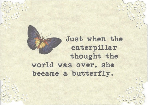 e2b7afaf8c38e Inspirational quote  Just When the Caterpillar Thought The