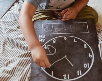 Step 2: Clock Trace-n-Erase Chalkboard®, Toddler Gift, Homeschool Curriculum, Educational Toys, Montessori Toys, Learning Toys, Teach, Learn