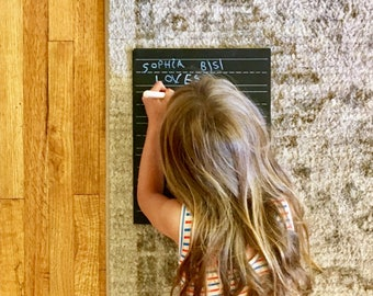 Step 2: (Lined) Practice Trace-n-Erase Chalkboard®, Toddler Gift, Homeschool Curriculum, Educational Toys, Montessori Toys, Learning Toys