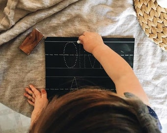 Step 1: Personalized 8x10 Trace-n-Erase Chalkboard®, Toddler Gift, Homeschool Curriculum, Educational Toys, Montessori Toys, Learning Toys