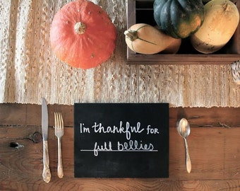 I'm Thankful For Fill in the Blank Chalkboard
