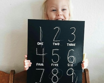 Step 1: 123 Trace-n-Erase Chalkboard®, Toddler Gift, Homeschool Curriculum, Educational Toys, Montessori Toys, Learning Toys