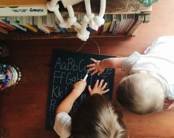 Step 1: ABC Trace-n-Erase Chalkboard® Toddler Gift, Homeschool Curriculum, Educational Toys, Montessori, Learning Toys