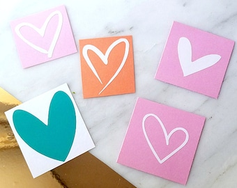 Heart Decal - Heart Decals - Pick A Heart - Laptop Decals - Phone Decals - All Surface Decals