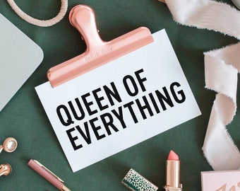 FREE Queen Of Everything Decal - DIY CHALLENGE
