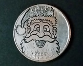 Santa Claus on an Oregon State Quarter - Hand engraved