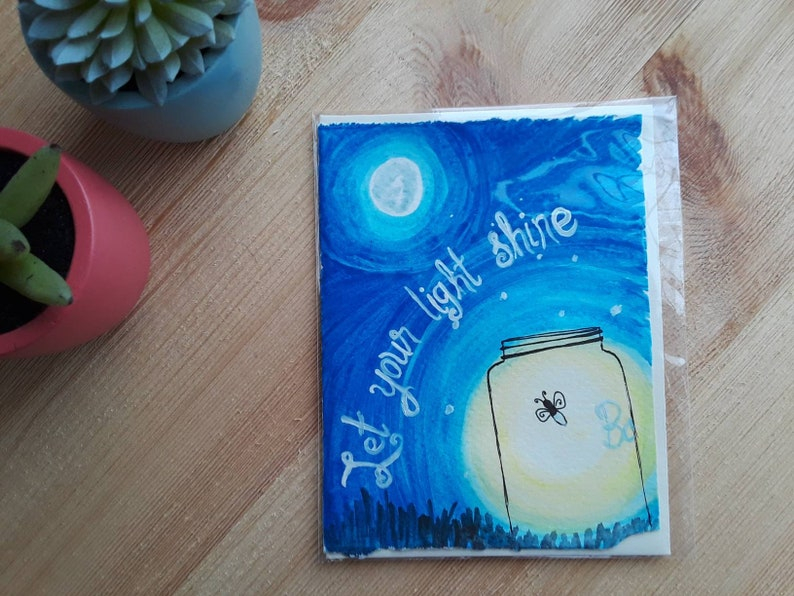 Lightning Bug Gift Way to Glow Greeting Card Way to Go Firefly Card Graduation Card Wedding Card Congratulations Card Firefly Gift
