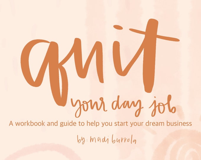 Quit your day job Workbook Digital Download