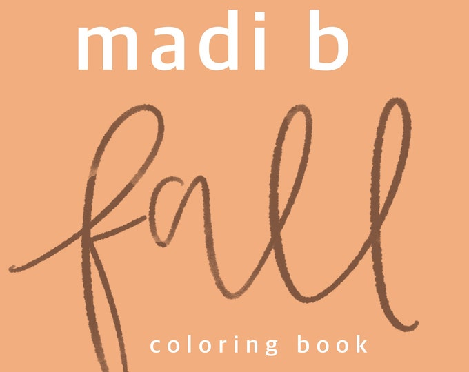 Fall Coloring Book
