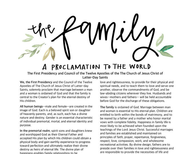 The Family a Proclamation to the World digital download