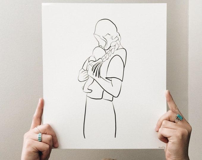 Baby + mama print