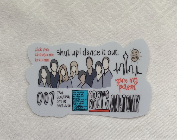 Greys Anatomy Sticker