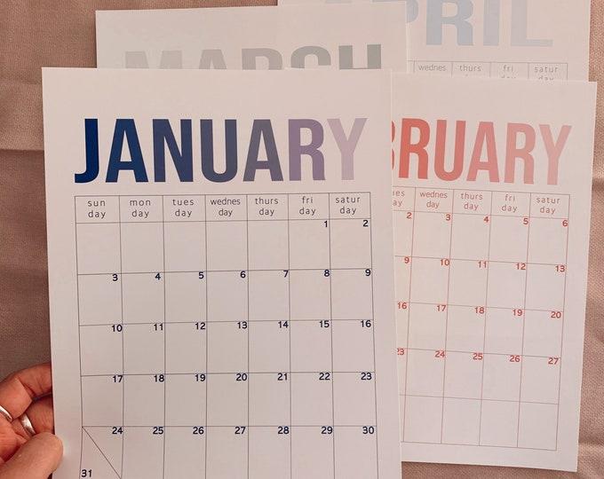 2021 Modern Simple Calendar