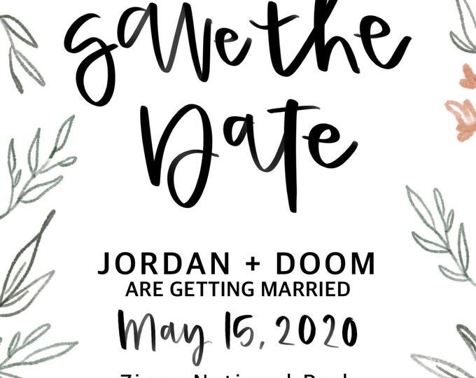 Custom Save The Date Design