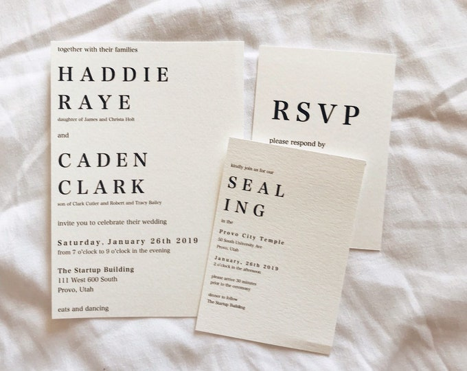 Simple and Classic Weddinh Invitations