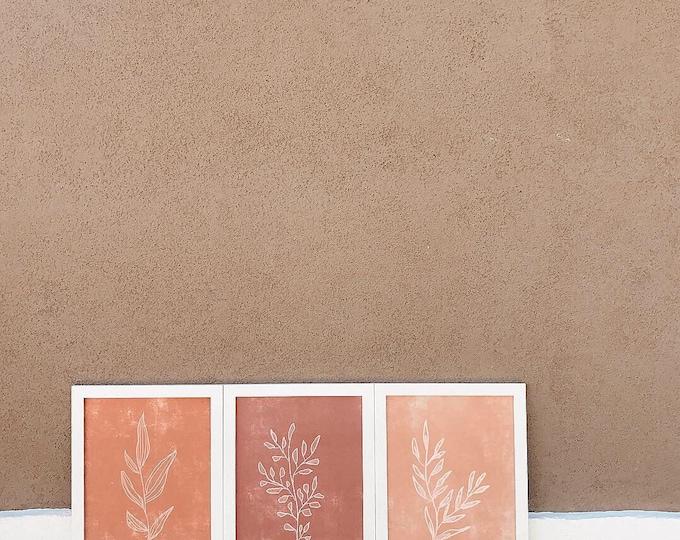 Terracotta Botanical Print Set