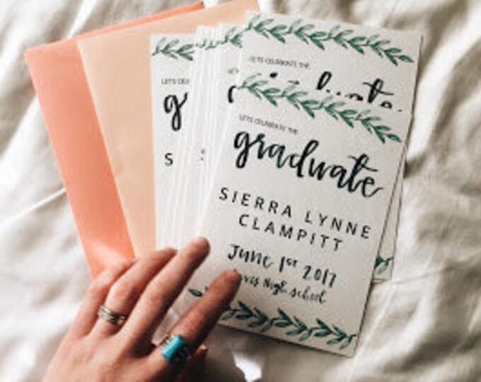 Custom graduation announcement