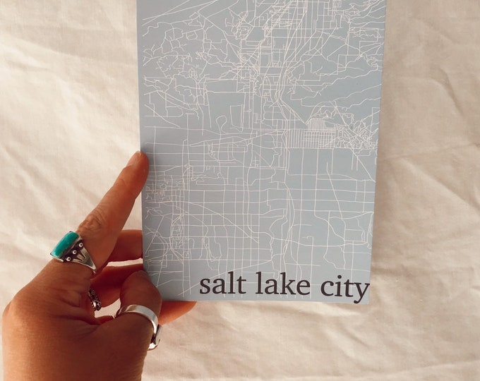 Salt Lake City Grid Print